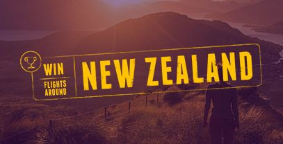 Win flights around New Zealand